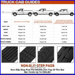04-13 Colorado Canyon Crew Cab Black SS Running Boards Side Step Nerf Bar