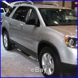 07-14 Acadia Outlook Traverse Enclave Chrome Running Boards Side Step Nerf Bar