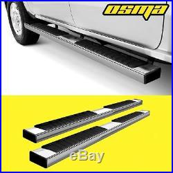 07-18 Silverado/Sierra Extended Double Cab 6 OE Chrome Side Step Running Boards