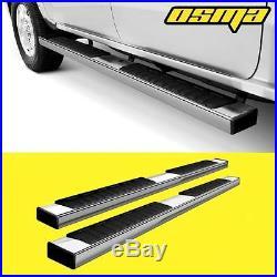14-16 GMC Sierra Chevy Silverado Double Cab Chrome Side Step Bar Running Boards