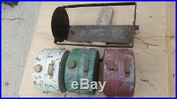 1909 1927 Model T Ford WATER / GAS / OIL TANKS Original set 3 white red green