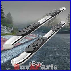 2001-2012 Chevy Silverado 2500hd/3500hd Crew Cab 5 Curved Nerf Step Bar Chrome