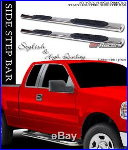 2001-2018 Chevy Silverado/sierra Crew 4 Chrome Side Step Nerf Bar Running Board
