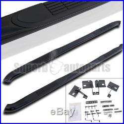 2007-2014 GMC Acadia 3 Side Step Nerf Bars S/S Running Board Black