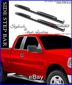 2007+ Chevy Silverado Ext Cab 4 S/s Chrome Side Step Nerf Bars Running Boards