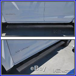 2015-2018 Chevy Colorado Canyon Crew Cab 5 Side Step Running Boards Rails Black