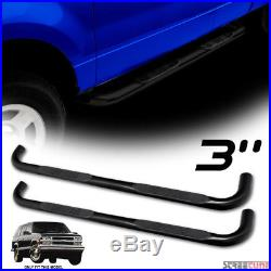 3 Black Heavyduty Side Step Bars Running Boards JL 95-99 Chevy Tahoe/Gmc Yukon