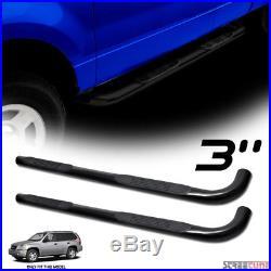 3 Black Heavyduty Side Step Nerf Bars Rail Board JL For 02-09 Trailblazer/Envoy