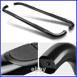 3 Black Running Board Round Side Step Bar for 00-14 Suburban/Avalanche/Yukon