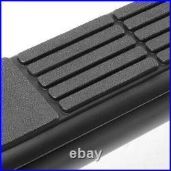 3 Black Running Board Round Side Step Bar for 07-19 Silverado/Sierra Crew Cab