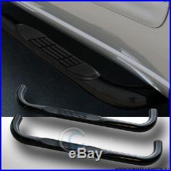 3 Blk Side Step Nerf Bars Running Boards For 88-00 C10 Blazer Tahoe Regular Cab