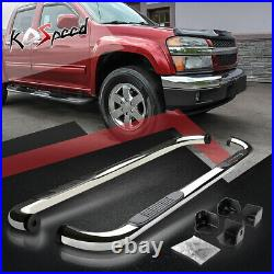 3 Chrome Running Board Side Step Nerf Bar for 04-12 Colorado/GMC Canyon Ext Cab