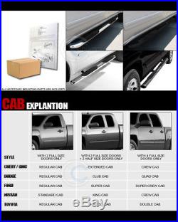 3 Chrome Side Step Nerf Bars Rail Running Boards 07-18 Chevy Silverado Crew Cab