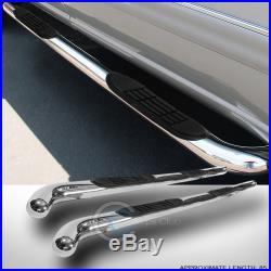 3 Chrome Side Step Nerf Bars Running Boards 2002-2009 Envoy Xl/trailblazer Ext