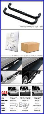 3 Hd Black Side Step Nerf Bars Running Boards 1988+ C10 Blazer Tahoe Regular 2d