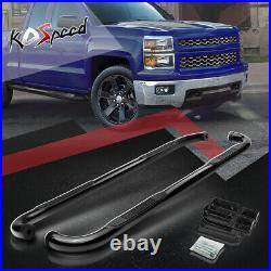3 (ROUND TUBE) Side Step Bar Running Boards for 00-19 Sierra GMT Extended Cab