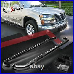 3 (ROUND TUBE) Side Step Bar Running Boards for 04-14 Colorado Canyon Crew Cab
