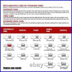 3 (ROUND TUBE) Side Step Bar Running Boards for 07-19 Silverado Sierra Quad Cab