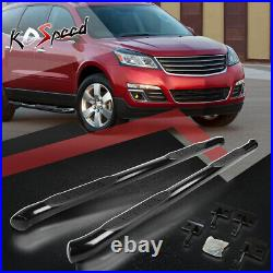 3 (ROUND TUBE) Side Step Bar Running Boards for 09-17 Chevy Traverse GMC Acadia