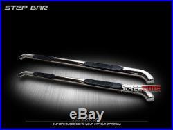 3 S/S Chrome Side Step Nerf Bars Running Boards 07-18 Silverado/Sierra Crew Cab