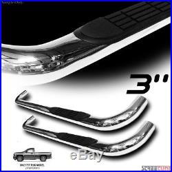 3 S/S HD Chrome Side Step Nerf Bar Running Board 99-18 Silverado/Sierra Reg Cab
