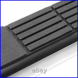 3 (STAINLESS) Step Nerf Bar Running Boards for 07-19 Silverado Sierra Quad Cab