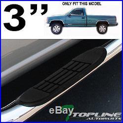 3 Ss Chrome Side Step Nerf Bars Running Board 1988+ C10 Blazer Tahoe Regular 2d