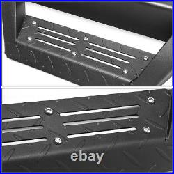 3 Step Bar Running Board+Down Step Pad for Chevy GMC Heavy Duty Ext Cab 07-19