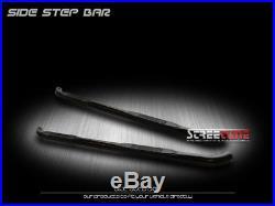 3 Tube Blk Side Step Nerf Bars Running Boards 07+ Silverado/Sierra Extended Cab