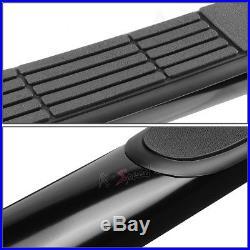 3Black Round Side Step Bar/Running Board for 10-16 Chevy Equinox/GMC Terrain