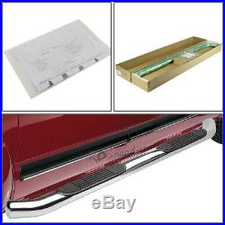 3Chrome Round Bolt-on Side Step Bar Running Board for 09-17 Traverse/GMC Acadia