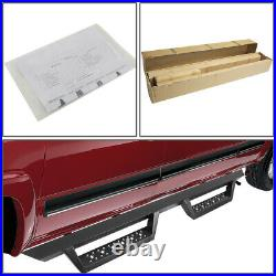 4.5Square Lower Cleat Step Bar Running Board for Chevy Sierra HD Crew Cab 07-19