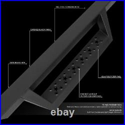 4.5Square Lower Cleat Step Bar Running Board for Silverado GMC HD Ext Cab 07-19