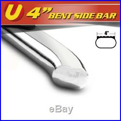 4 Bent Oval Nerf Bars Running Boards For 2015-2020 GMC Canyon Extended Cab