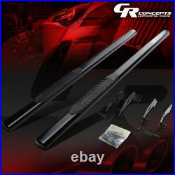 4 Black Oval Side Step Nerf Bar Running Board For Chevy/gmc/c/k Extended Cab