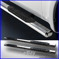 4 Chrome Side Step Nerf Bars Rail Running Board 07-18 Silverado/sierra Crew Cab