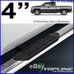 4 Chrome Side Step Nerf Bars Running Board 1999-2018 Chevy Silverado/sierra Ext
