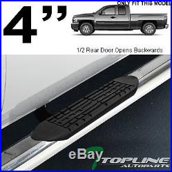 4 Chrome Side Step Nerf Bars Running Boards 1999-2018 Chevy Silverado Ext Cab