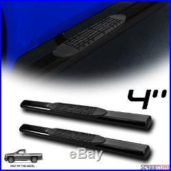 4 HD Black Side Step Nerf Bars Rail Running Boards 07+ Chevy Silverado Reg Cab