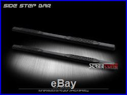 4 Matte Black Oval Side Step Nerf Bars Running Board 04-12 Colorado/Canyon Crew