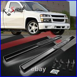 4 (OVAL TUBE) Step Bar Running Boards for 04-12 Colorado Canyon Standard Cab