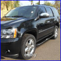 4 Oval 2000-2014 Chevy Tahoe GMC Yukon 4dr Chrome Side Step Bars Running Boards