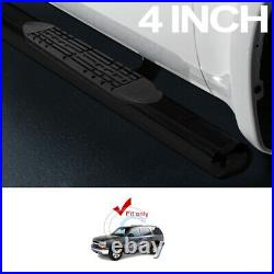 4 Oval Black Side Step Nerf Bars Running Boards 00-14 Chevy Tahoe/02+ Escalade