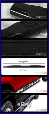 4 Oval Blk Side Step Nerf Bars Running Boards 07+ Silverado/Sierra Extended Cab
