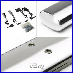 4 Oval Chrome Extended Cab Step Nerf Bar Running Board For 88-00 Chevy/gmc C/k