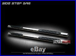 4 Oval Chrome Side Step Nerf Bars Running Board 07-18 Silverado/Sierra Crew Cab