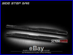 4 Oval Heavyduty Black Side Step Bars Boards 04-12 Colorado/Canyon Extended Cab