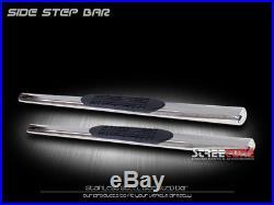 4 Oval SS Side Step Nerf Bars Rail Running Board 99-18 Silverado/Sierra Reg Cab