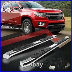 4 (SS CURVED OVAL TUBE) Step Bars Running Boards for 15-20 Colorado Crew Cab