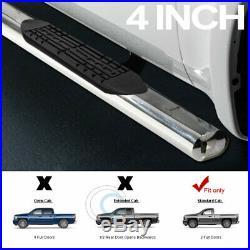 4 SS Chrome Side Step Nerf Bars Running Boards 99-18 Silverado/Sierra Regular